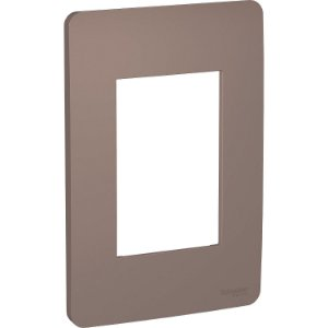Placa 4x2 3 Postos Planet Brown Schneider Orion S730103264