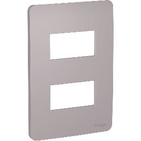 Placa 4x2 2 Postos Axis Grey Schneider Orion S730121224