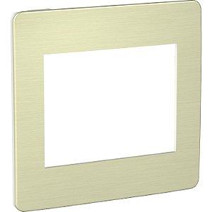 Placa 4x4 6 Postos Aurora Gold Schneider Orion S733203649