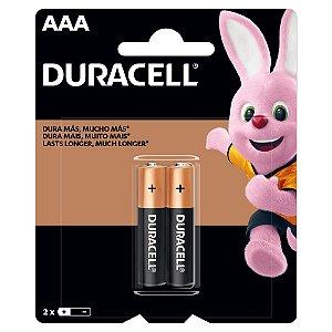 Pilha AAA Alcalina Duracell com 2 unidades