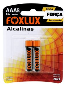 Pilha AAA Alcalina Foxlux com 2 unidades 95.04
