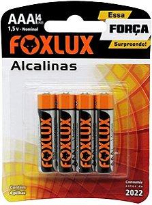 Pilha AAA Alcalina Foxlux com 4 unidades 95.03