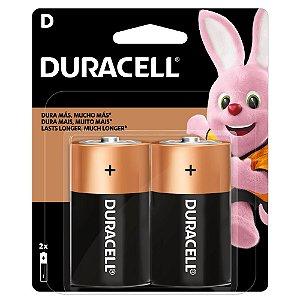 Pilha D Alcalina Duracell com 2 unidades