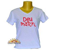Camiseta Babylook Deu match