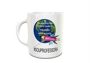 Caneca #souprofessora