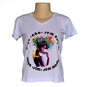 Camiseta baby look liberdade de sim ou não