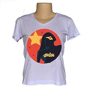 Camiseta babylook mulher maravilha