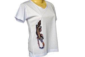 Camiseta baby look lagarto