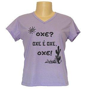 Camiseta baby look frases da moda Oxe é oxe