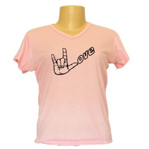 Camiseta baby look Libras Love