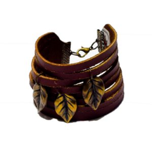 Bracelete Lamia em couro