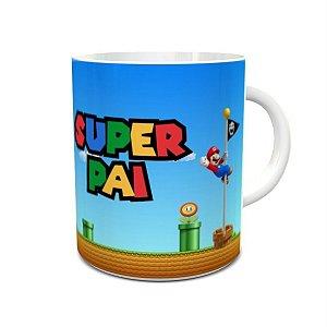 Caneca dia dos Pais Super Pai Mario Bros