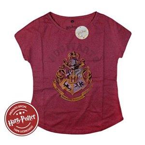 Camiseta Feminina Harry Potter Hogwarts