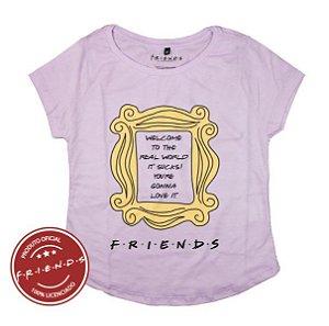 Camiseta Feminina Friends Moldura Amarela