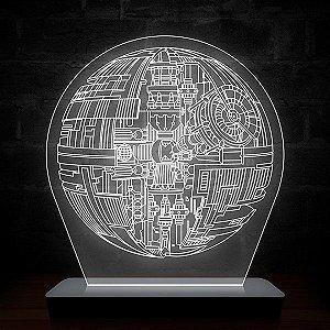 Luminária de Acrílico Star Wars Estrela da Morte