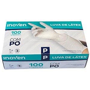 LUVA LATEX P COM PO - CX 100 UNI.