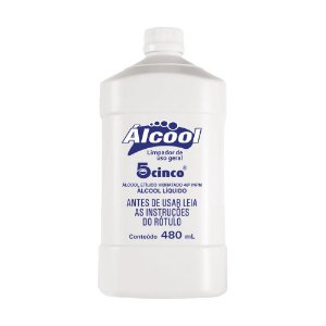 Álcool 70% 5Cinco - 480ml
