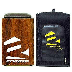 Cajon Elétrico Enrima Total Imbuía Dupla Captação + Bag Case