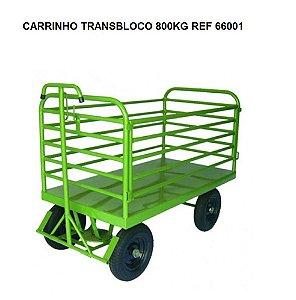 REF 66001G  CARRINHO TRANS BLOCO 800KG  ABA REMOVIVEL