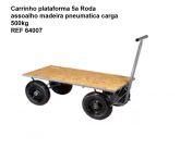 CARRINHO PLATAFORMA 5 RODAS ASSOALHO DE MADEIRA 500KG.