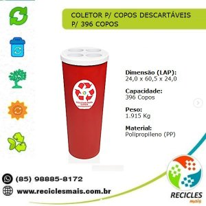 COLETOR P/ COPOS DESCARTÁVEL - 396 COPOS