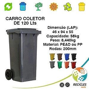 CARRO COLETOR DE LIXO 120 LITROS