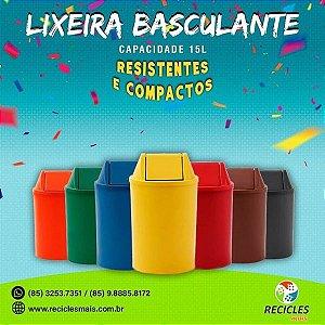 LIXEIRA C/ TAMPA BASCULANTE 15L