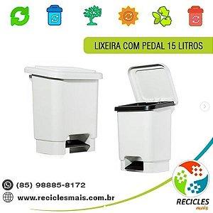 LIXEIRA C/ PEDAL 15 LITROS