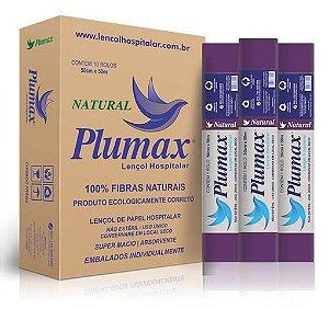 Lencol de Papel  70cmx50m - Roxo - Natural - 100% Fibras - Plumax