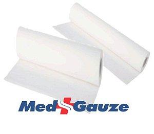 Lencol de Papel  70cmx50m  - Luxo - Extra Branco 100% Celulose - Medgauze