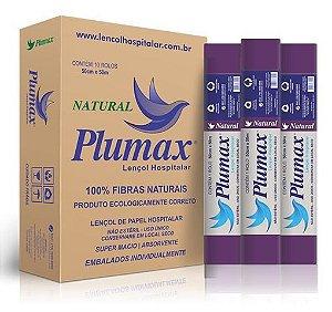 Lencol de Papel  50cmx50m - Roxo - Natural - 100% Fibras - Plumax