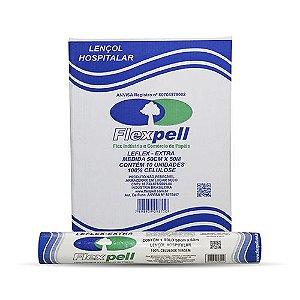 Lencol de Papel  50cmx50m -Luxo - Extra Branco 100% Celulose - FLEXPELL