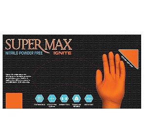 Luva Nitrílica para proteção química - mecânica e riscos gerais - Laranja