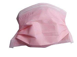 Mascara tripla com elástico - Rosa - pct com 50 - Protdesc