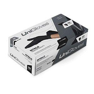 Luva de Procedimento Nitrilo Black Sem Talco - Unigloves