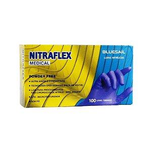 Luva Nitrílica de Procedimento Azul - Nitraflex
