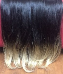 Cabelos natural liso – Martha Hair Nº 3 – Castanho escuro – Ombre Hair (Kit com 25g)