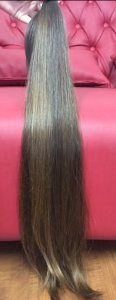 Cabelo natural liso – Martha Hair Nº 6 – Loiro escuro – Mesclado (Kit com 25g)