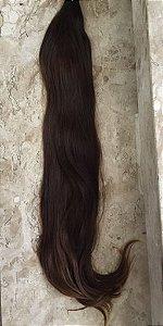 Cabelo natural liso – Martha Hair Nº 5 – Castanho claro – mesclado (Kit com 25g)
