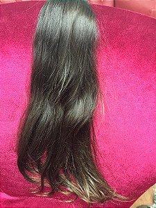 Cabelo Natural Liso – Martha Hair Nº 5 – Castanho Claro - Liso Jeitoso (Kit com 25g)