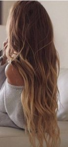 Cabelo natural ondulado – Martha Hair Nº 9 – Loiro muito claro – Ombre hair (Kit com 25g)