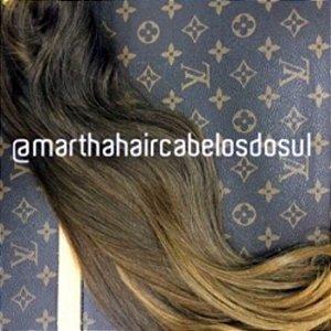Cabelo Natural Loiro Mel Martha Hair Nº 7 - Com coloração (Kit com 25g)