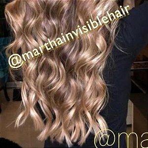 Cabelo loiro mel Martha Hair Nº 7, ondulado, com coloração, origem brasileiro do sul (kit com 25g)