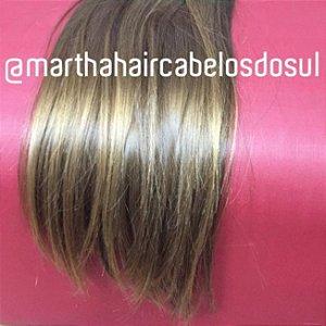 Cabelo loiro Martha Hair Nº 8, mesclado, com coloração (kit com 25g)