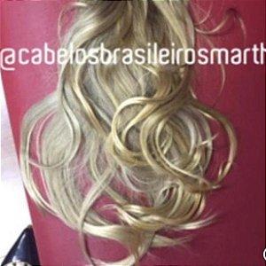 Cabelo loiro Martha Hair Nº 9, cor natural, cacheado, com coloração (kit com 25g)