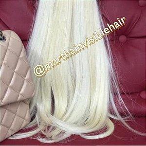 Cabelo loiro Martha Hair nº 12, claríssimo, com coloração (kit com 25g)