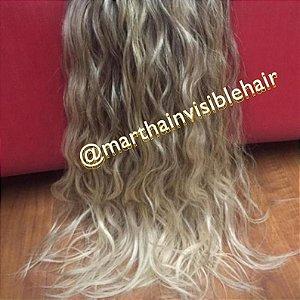 Cabelo loiro Martha Hair nº 12, cacheado, mesclado, com coloração (kit com 25g)