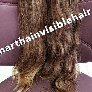 Cabelo loiro mel Martha Hair nº 7, com coloração (kit com 25g)