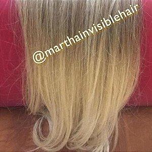 Cabelo loiro claro Martha Hair nº 10, cacheado, mesclado, com coloração (kit com 25g)