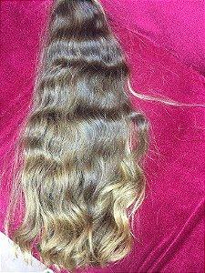 Cabelo loiro claríssimo Martha Hair nº 10, ondulado, com coloração (kit com 25g)